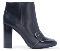 Bond Leather Ankle Boots Navy