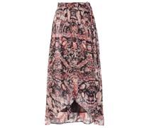 Deroie Asymmetric Printed Crepon Wrap Skirt