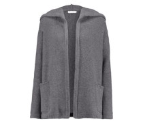 Merino wool and cashmere-blend hooded cardigan
