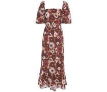 Lorette Cutout Floral-print Cotton Maxi Dress