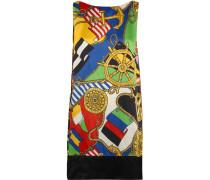 Printed Satin-crepe Dress Mehrfarbig