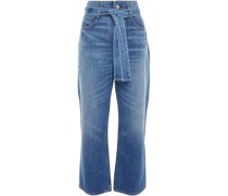 Kelly Belted High-rise Straight-leg Jeans