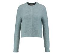 Ribbed-knit Sweater Hellblau