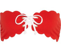 Antibes scalloped bandeau bikini top