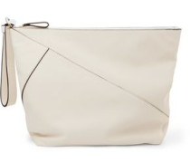 Origami paneled leather clutch