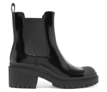 Willoughby Glossed-leather Ankle Boots Schwarz