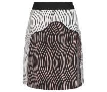 Printed Silk Mini Skirt Wollweiß