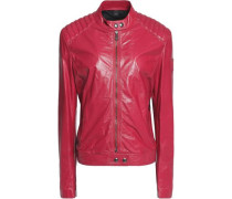 Saxby textured-leather biker jacket