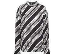 Striped Silk-twill Blouse