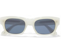 Isba D-frame Silver-tone And Acetate Sunglasses