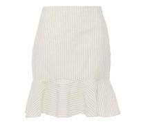Natty ausgestellter Minirock aus Baumwollgaze mit Streifen