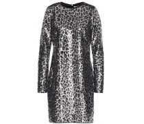 Sequined Jersey Mini Dress
