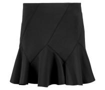 Fluted Stretch-neoprene Mini Skirt Schwarz