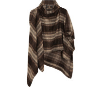 Gaia Brushed Knitted Cape Braun