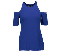 Talladega Cutout Stretch-jersey Top Königsblau