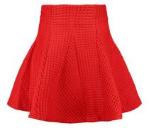 Matelass&eacute Mini Skirt Signalrot