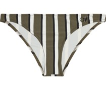 The Rachel Striped Low-rise Bikini Briefs