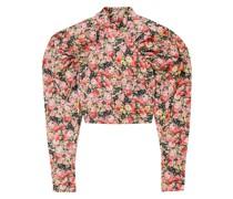 Kim Cropped Oberteil aus Webstoff mit Floralem Print