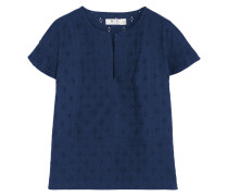 Broderie Anglaise Cotton Top Indigo