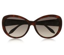 Round-frame Acetate Sunglasses Dunkelbraun