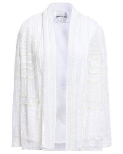 Birma Embellished Georgette Jacket Ivory