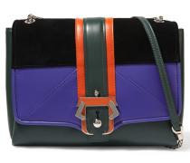 Alice Suede And Leather Shoulder Bag Grün