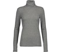 Jersey Turtleneck Sweater Grau