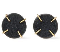 14-karat Gold Agate Druzy Earrings