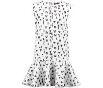 Printed Scuba Mini Dress Weiß