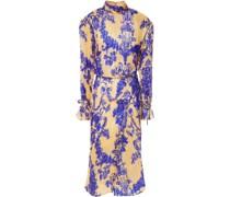 Kleid aus Plissiertem Chiffon aus Einer Seidenmischung mit Print