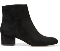 Gabbie Suede Ankle Boots Black