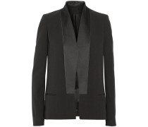 Silk And Wool-blend Tuxedo Jacket Schwarz