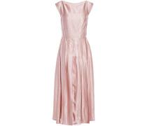 Eva Pleated Crinkled Satin-crepe Midi Dress
