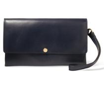 Leather Clutch Mitternachtsblau
