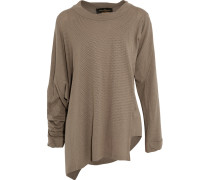 Asymmetric Pointelle-knit Sweater Braun