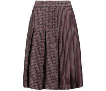 Ava pleated jacquard skirt