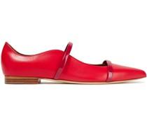 Maureen Two-tone Leather Point-toe Flats