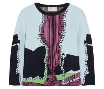 Jacquard-knit Cardigan Flieder