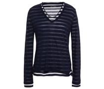 Mehrlagiges Oberteil aus Baumwoll-jersey mit Streifen