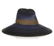 Palm Beach Wide-brim Woven Paper Yarn Hat Navy