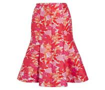 Floral-jacquard skirt
