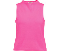 Stretch-knit Top Pink