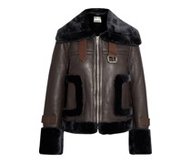 Lianna Faux Fur-trimmed Leather Jacket