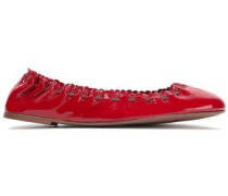 Jane Patent-leather Ballet Flats Crimson