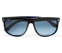 Square-frame Acetate Sunglasses Schwarz