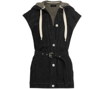 Enna hooded denim vest