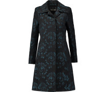 Cotton-blend Jacquard Coat Türkis
