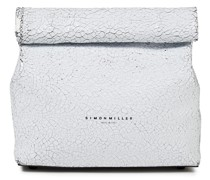 Lunchbag 20 Cracked Patent-leather Clutch