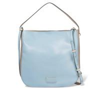Hobo Two-tone Leather Shoulder Bag Hellblau
