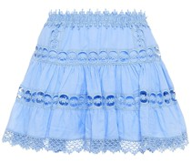 Greta Crocheted Lace And Cotton-blend Voile Mini Skirt